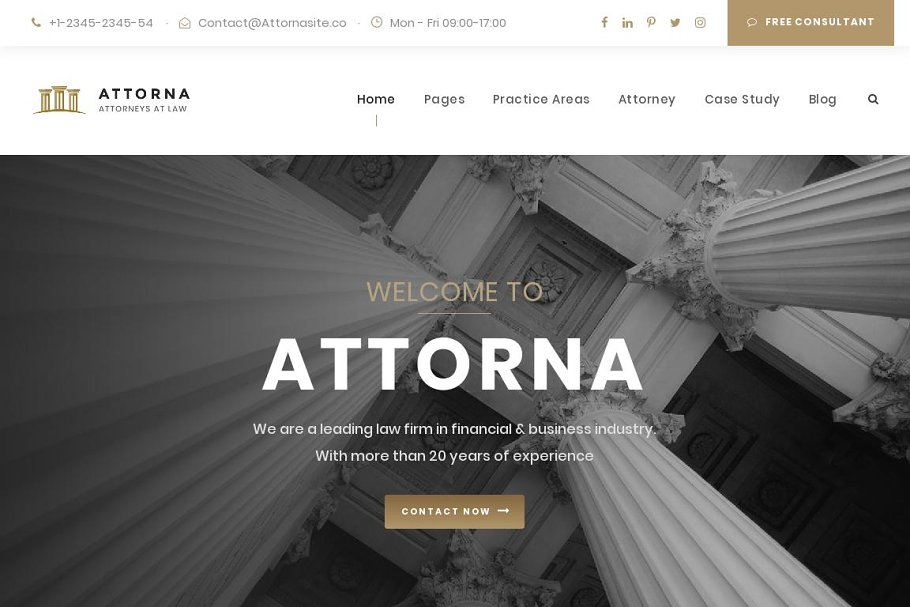 LAWYER & ATTORNEY HTML TEMPLATE