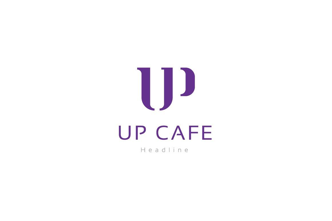 up cafe logo logo templates creative market - Violet Cafe 2015