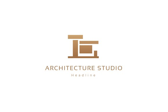 Architecture studio logo logo templates creative market for S architecture logo