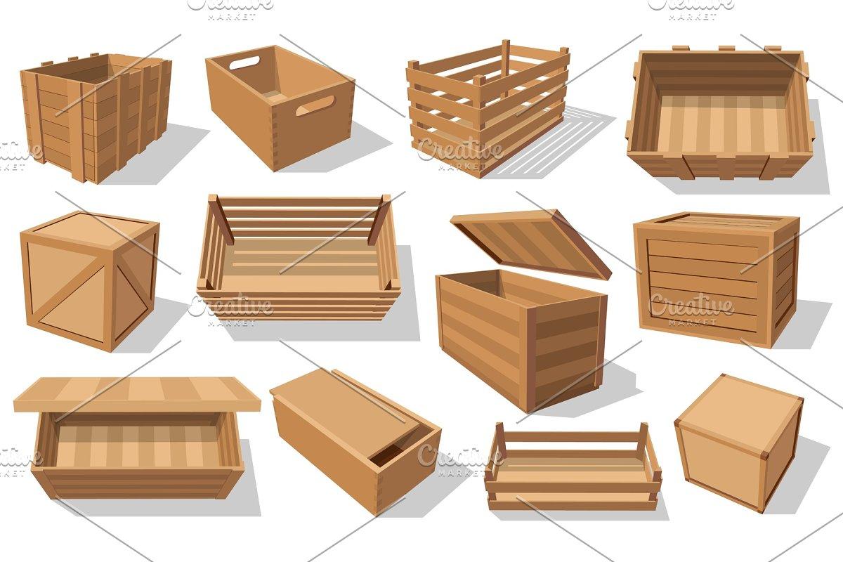 Pallets Boxes Wooden Crates