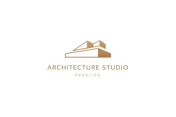 Architecture studio logo logo templates on creative market for S architecture logo
