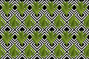 Green tropical plant seamless