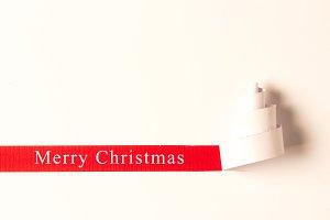 Merry Christmas White Paper Tree