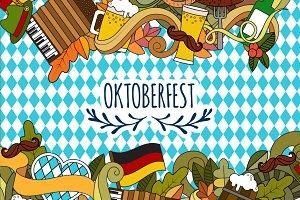 Doodle style design for Oktoberfest