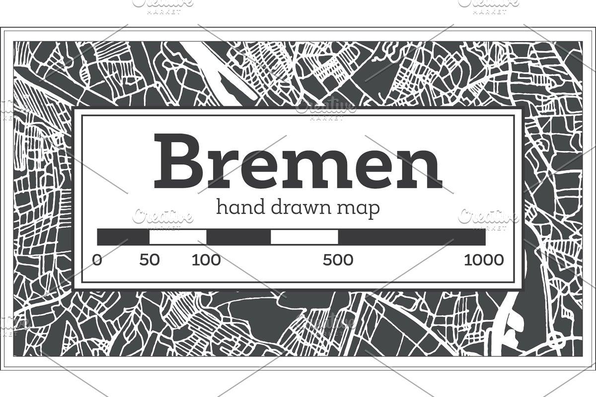 Bremen Germany City Map in Retro ~ Illustrations ~ Creative ...