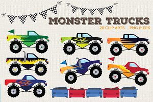 Monster Trucks Clip Art