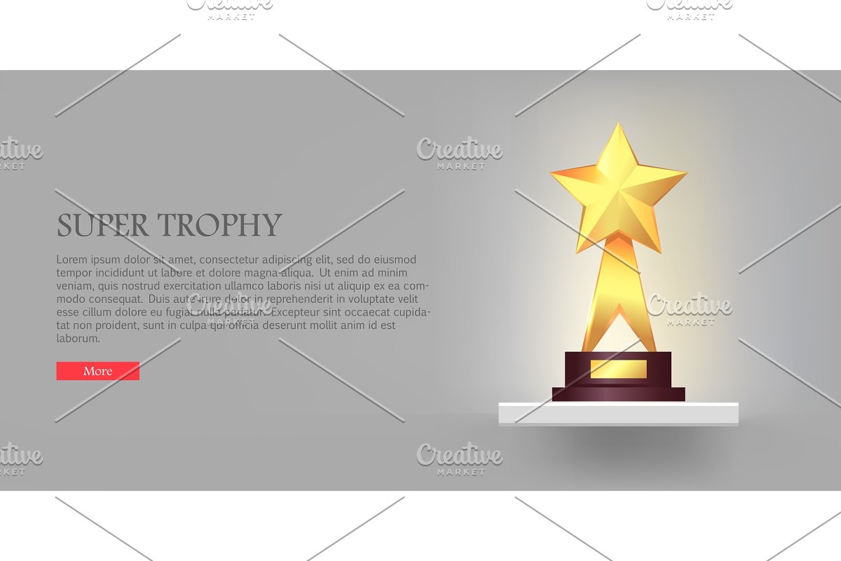 Best Gold Star Trophy Standing on