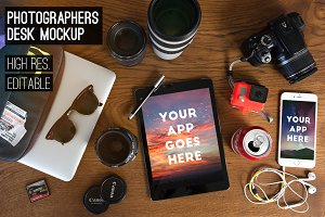 photographer's desk [MockUp Pack]