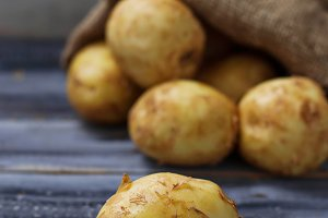 Fresh organic potatoes