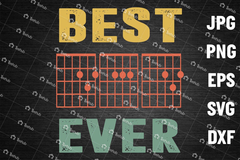 Guitar Best Dad Ever Svg