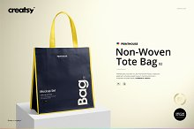 Non-Woven Tote Bag 2 Mockup Set by  in Mockups