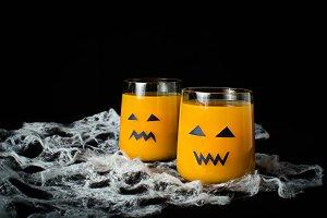 Halloween drink pumpkin juice