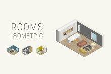 Interior isometric rooms