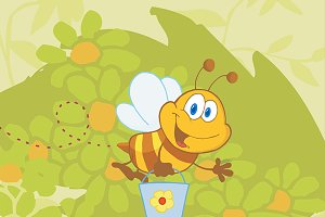 Smiling Bee Character Collection - 2