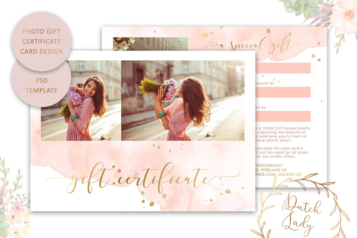 PSD Photo Gift Card Template #43 in Card Templates - product preview 8
