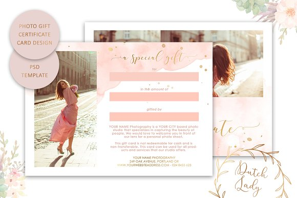PSD Photo Gift Card Template #43 in Card Templates - product preview 1