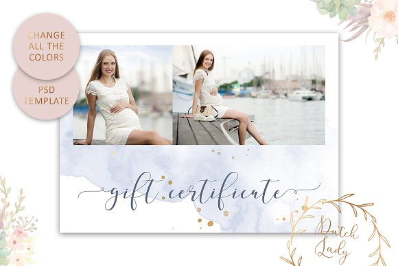 PSD Photo Gift Card Template #43 in Card Templates - product preview 3