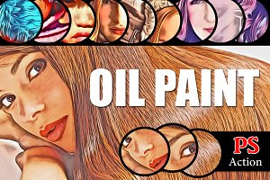(50% off) Oil Paint PS Action