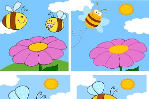 Smiling Bee Character Collection - 3