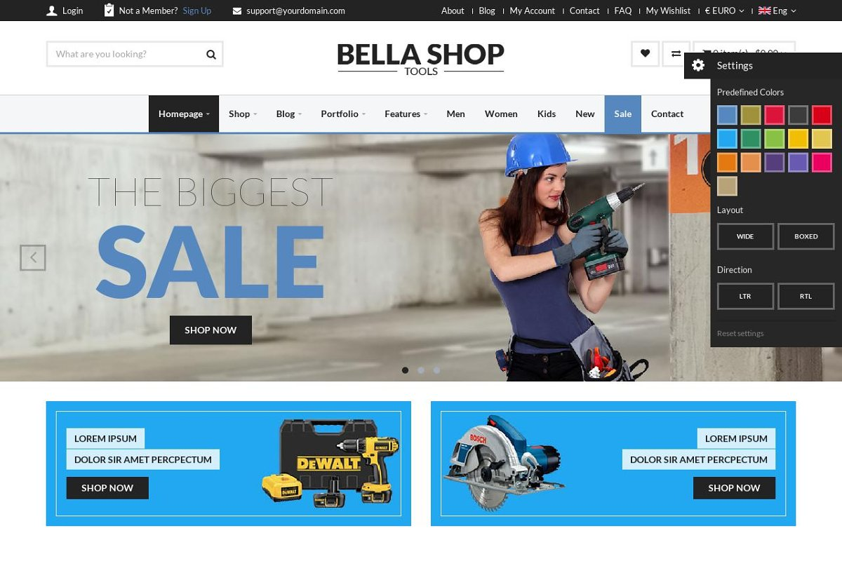 Bella - eCommerce HTML Shop with RTL