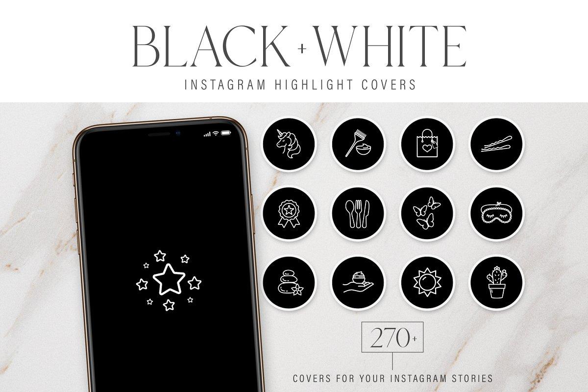 Black Instagram Highlight Covers