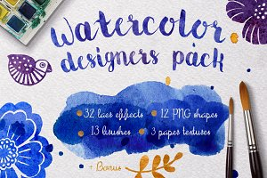 Watercolor designers pack