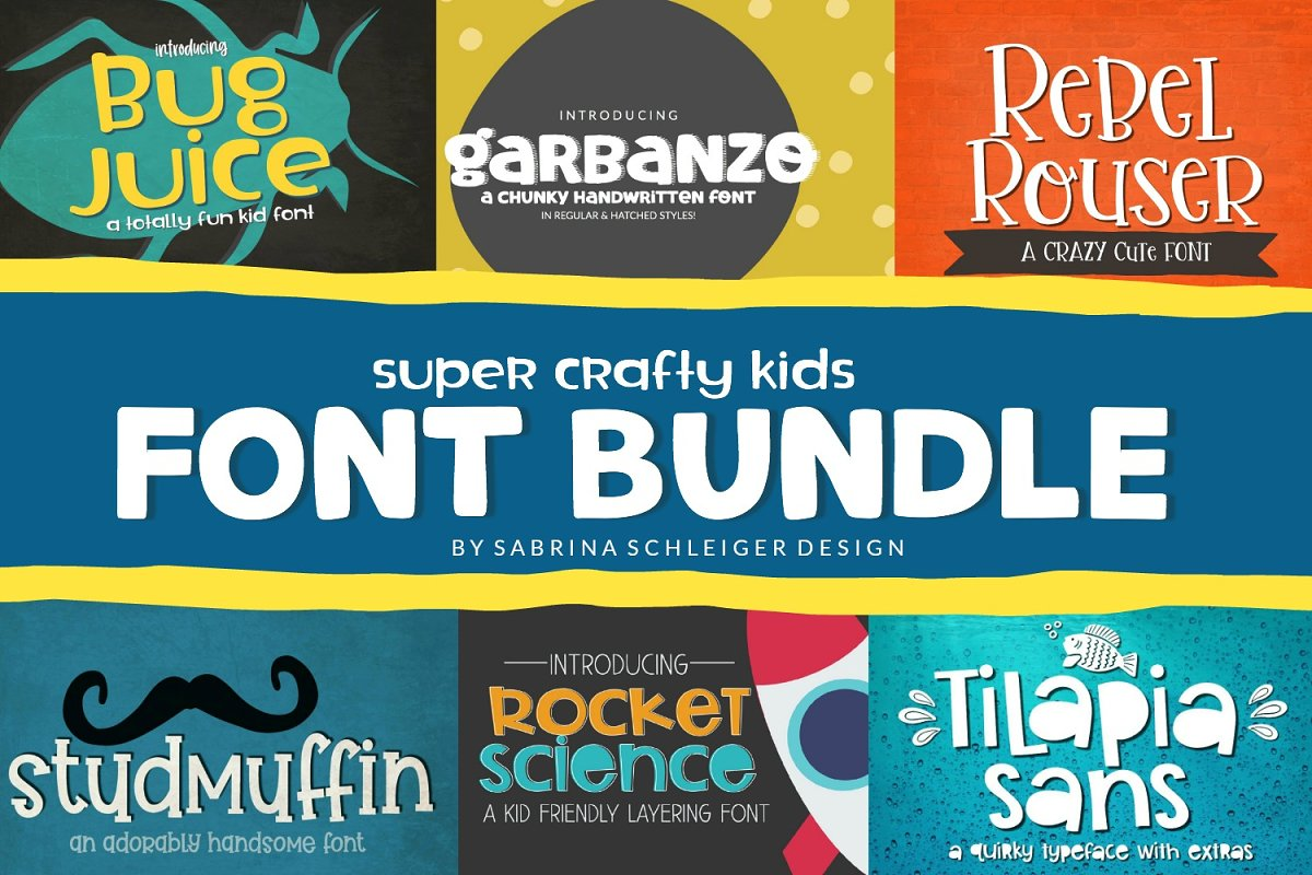 Super Crafty Kids Font Bundle