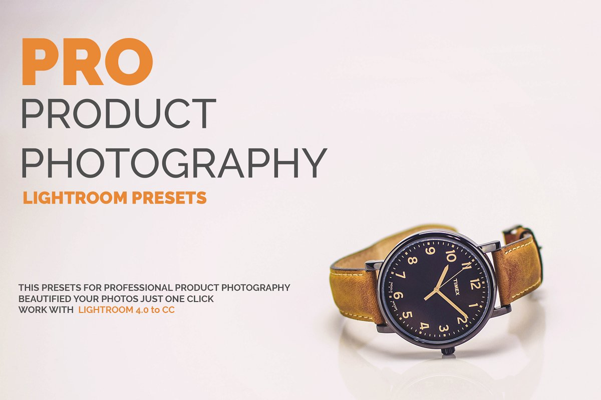PRO Product Photography LR Presets