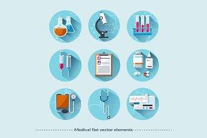Medical flat icons