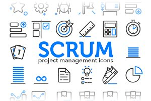 Scrum - Project Management Icons