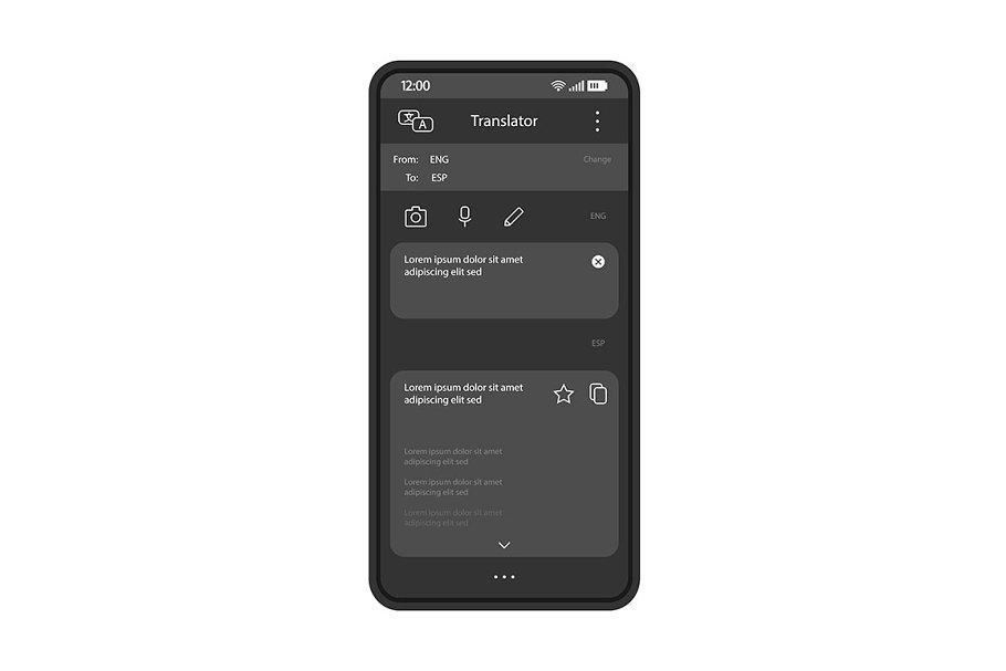 Online translator smartphone app