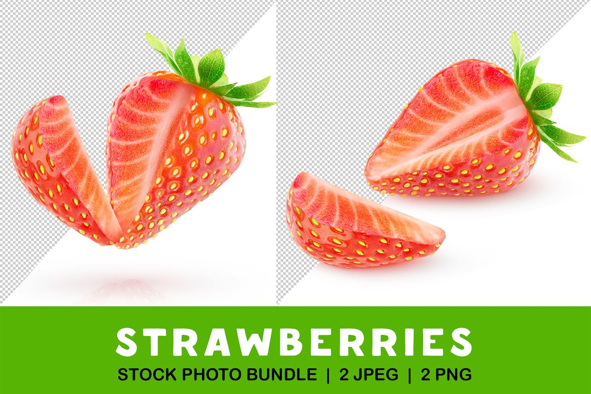 Strawberry with cut out piece