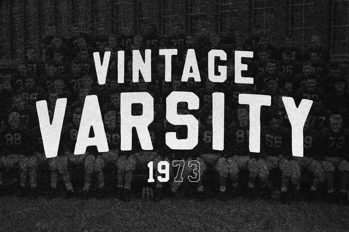 Vintage Varsity ~ Slab Serif Fonts ~ Creative Market