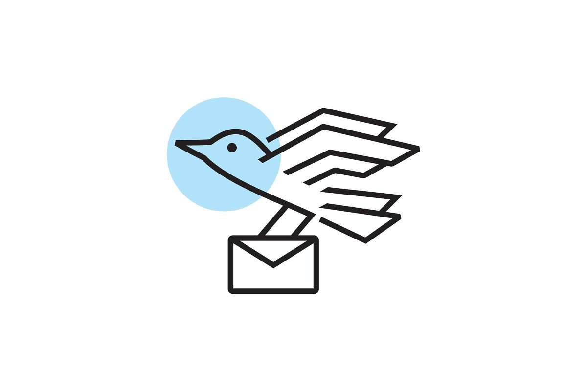 bird mail logo