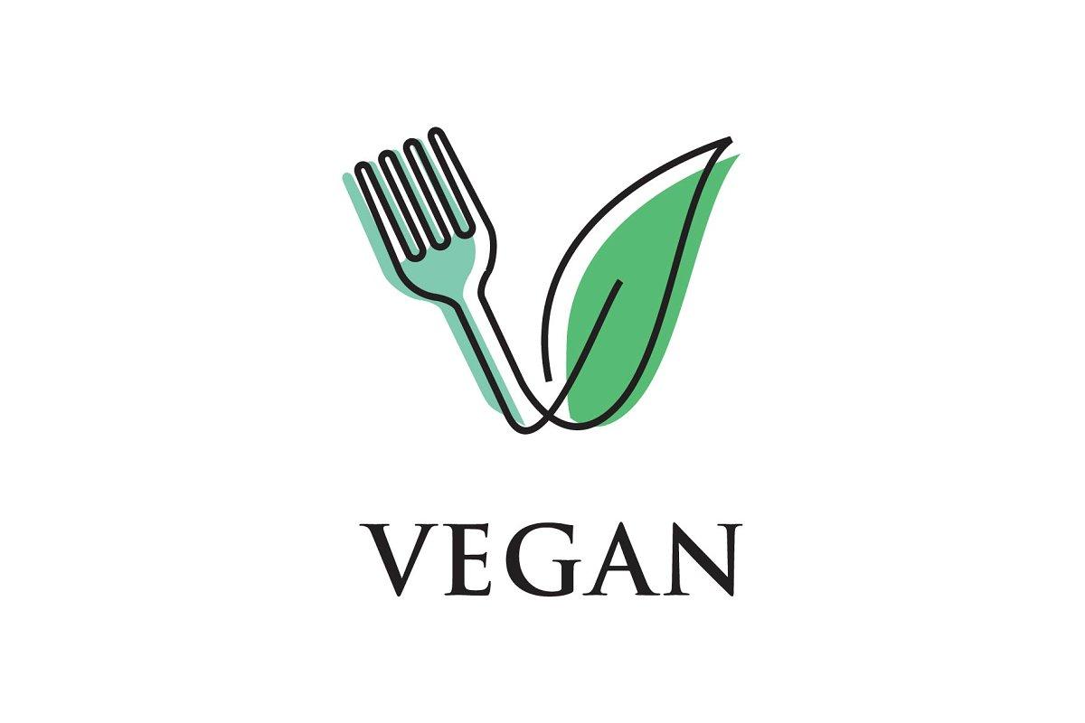 Vegan Food Logo