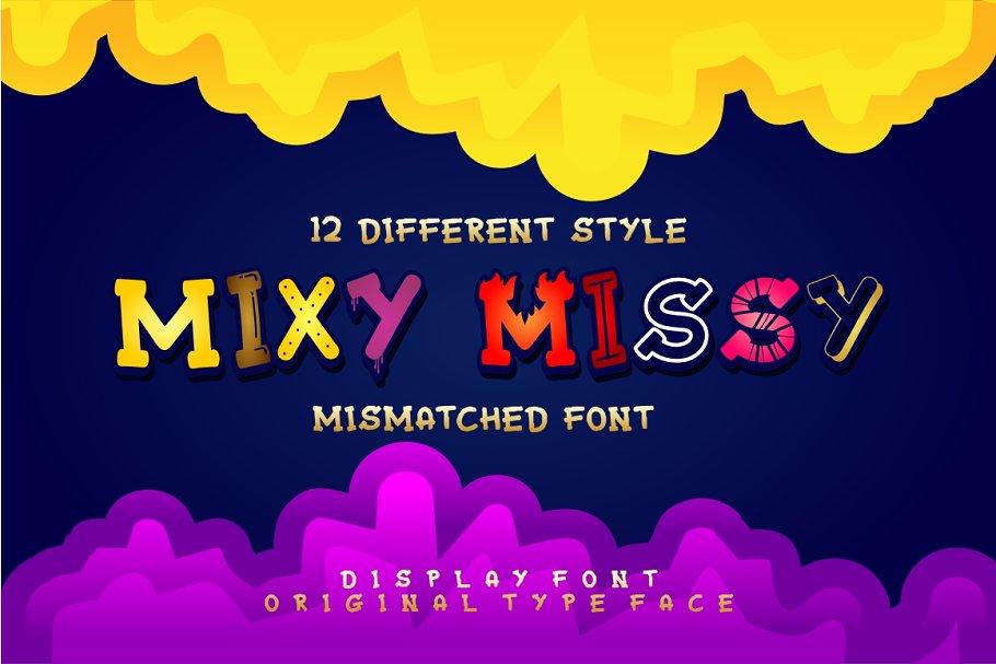 Mixy Missy - 12 Styles Display Font