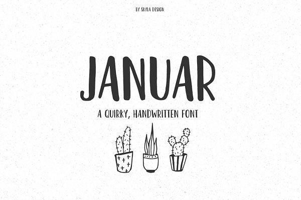 Januar fun handwritten font   Stunning Sans Serif Fonts ...
