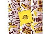 Run faster set of seamless patterns
