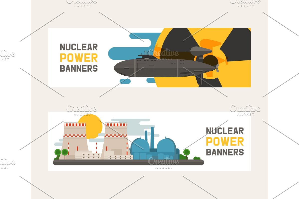 Radioactive, nuclear power plant