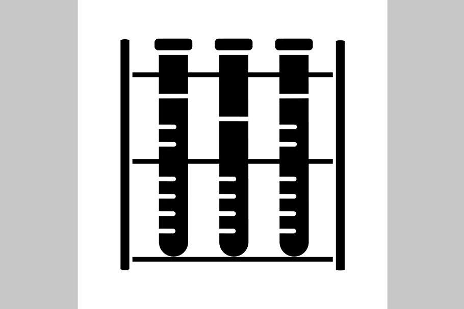 Lab analysis glyph icon