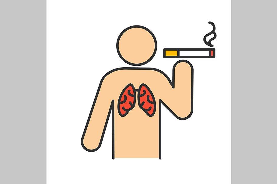 Smoking color icon