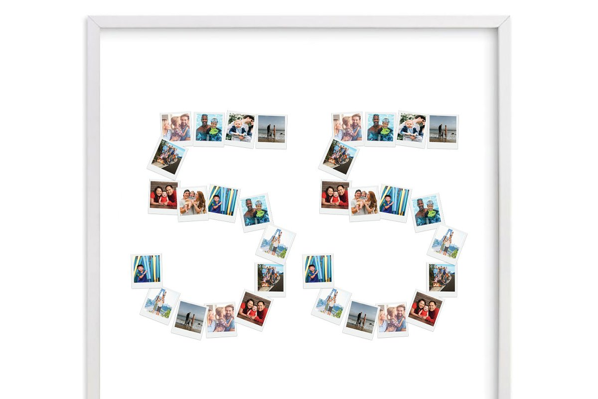 Number 55 Photo Collage Template