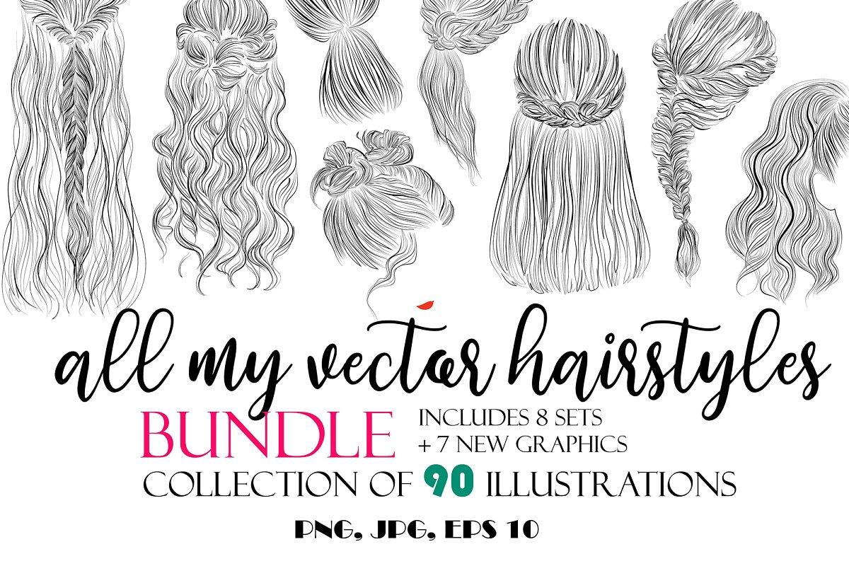 All my Vector hairstyles bundle