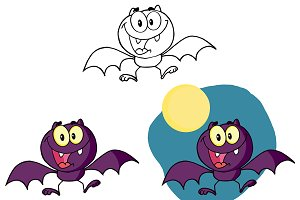 Halloween Bat Character Collection