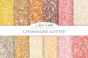 Champagne Glitter Textures