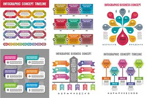 6 Infographic Business Concepts