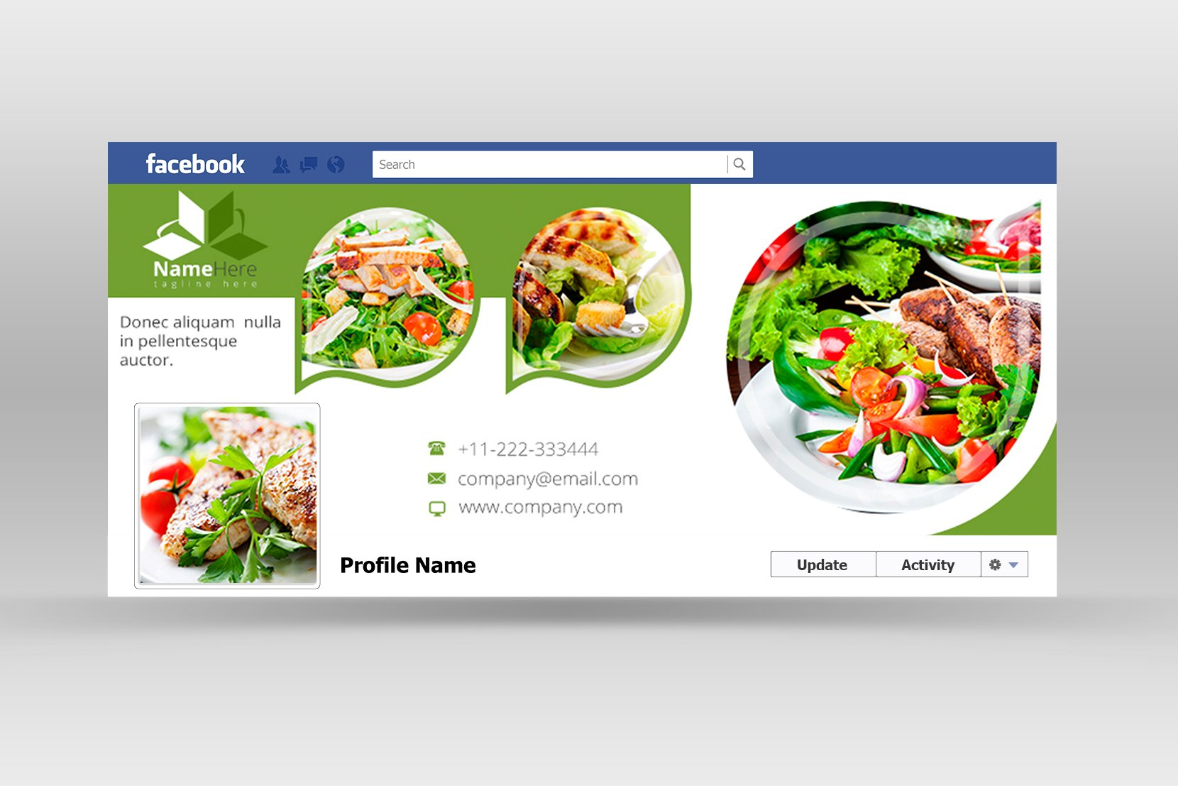 Food & Restaurants Facebook Cover ~ Web Elements ...