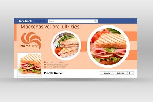 Yummy Food Facebook Cover