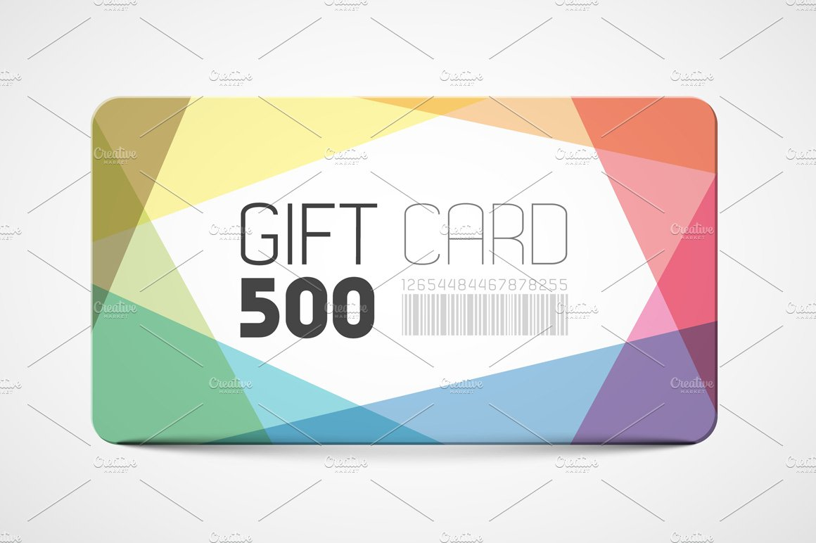 gift card marketplace gift card template card templates creative market 4105