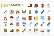 36 Camping Icons x 3 Styles